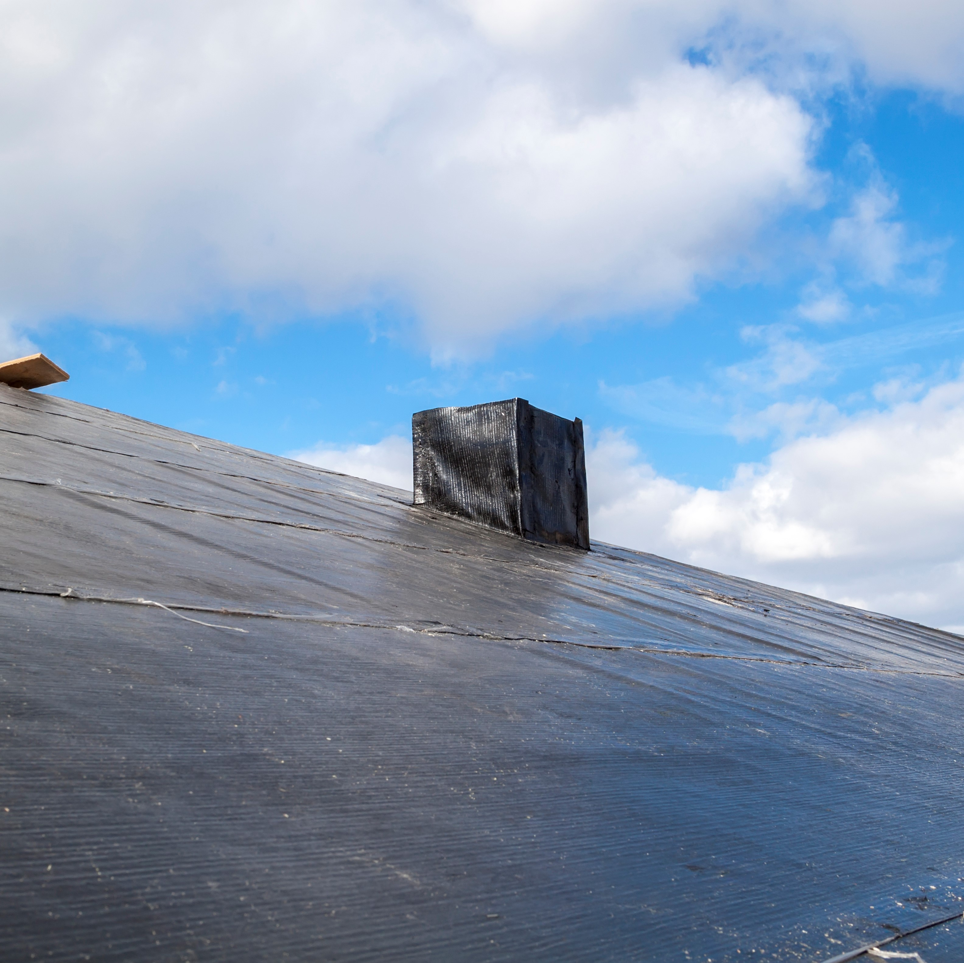 EPDM present on a commercial roof.