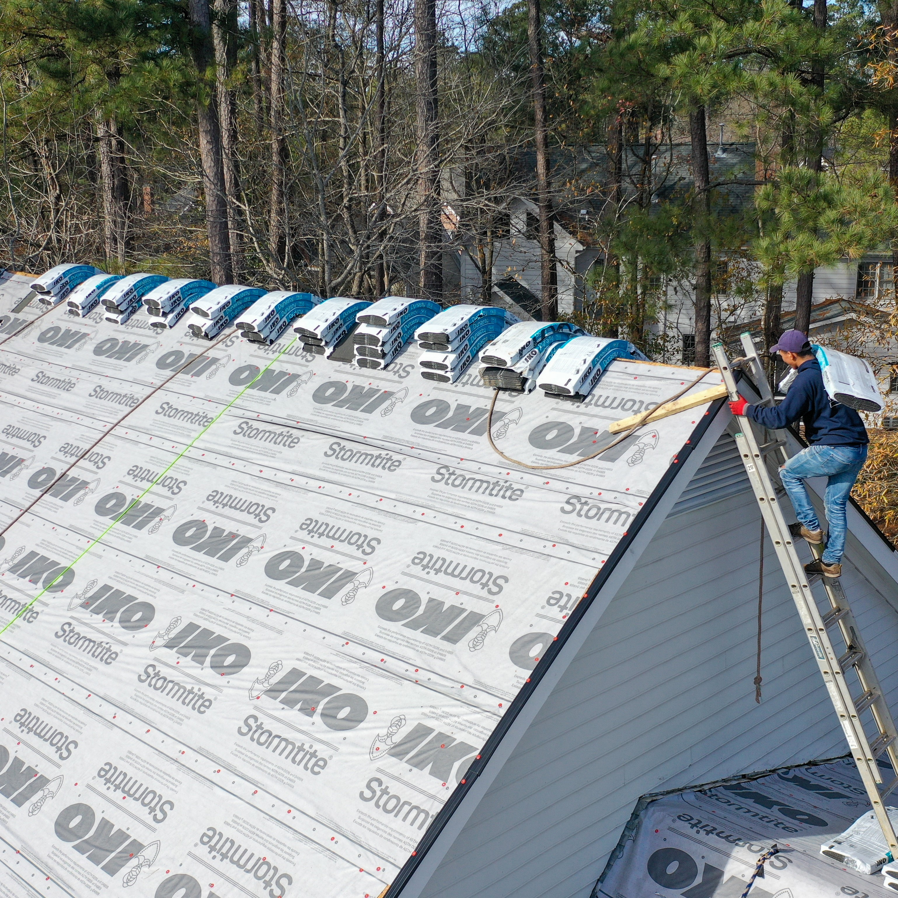 A roof that is getting a fresh install.