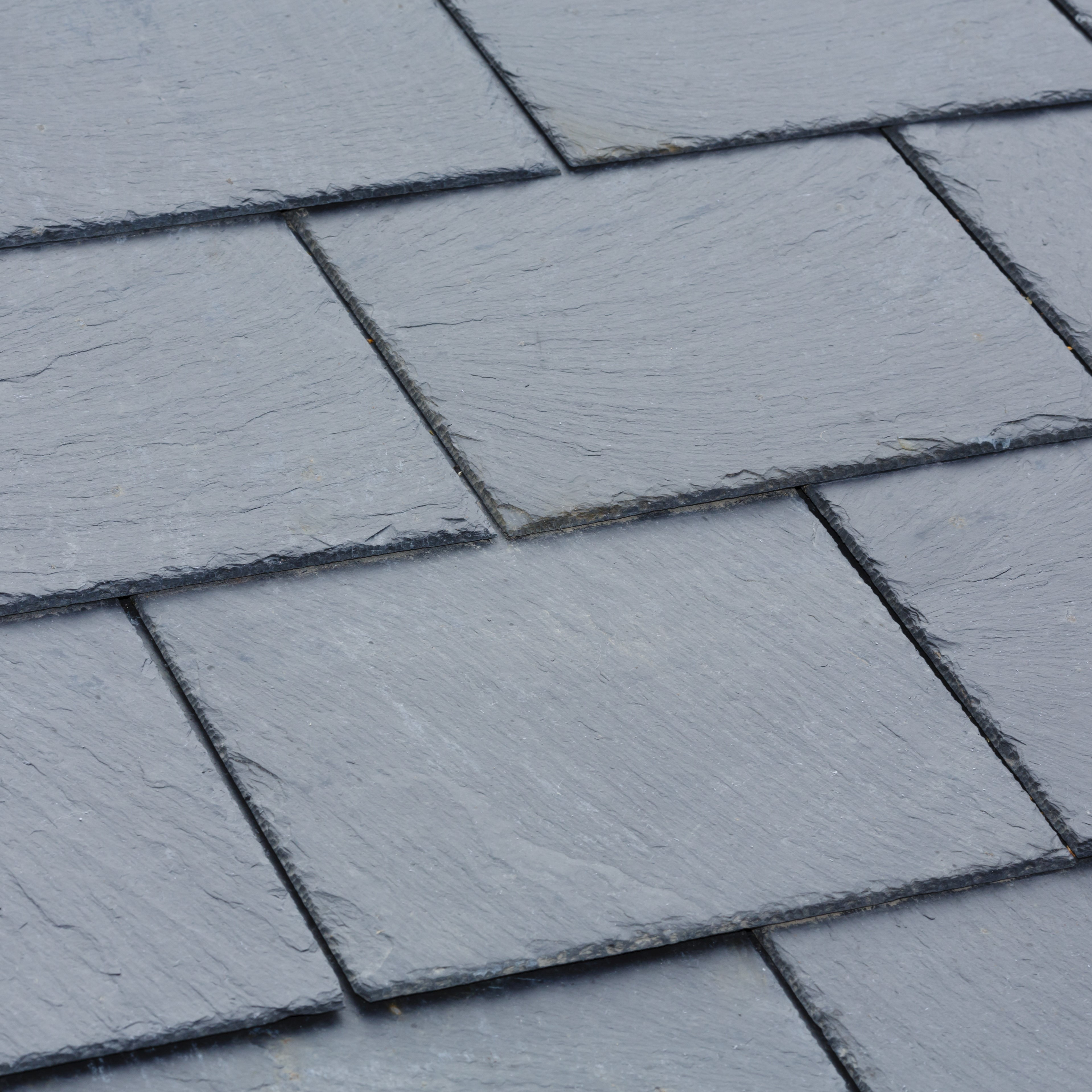 Slate roofing on a residential roof.