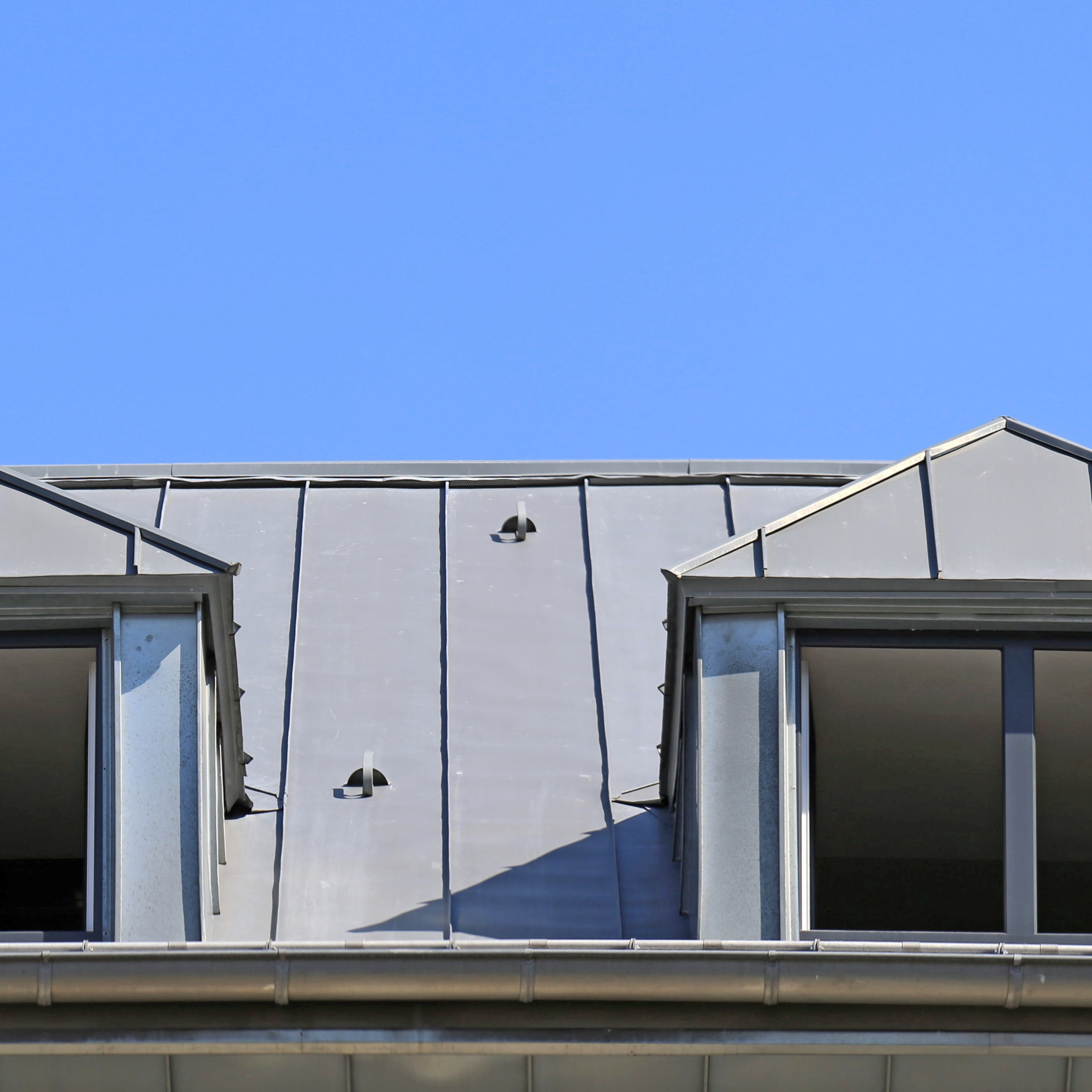 A roof that features standing seam metal roofing.