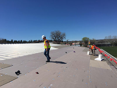 Contractors Working On Roofs.