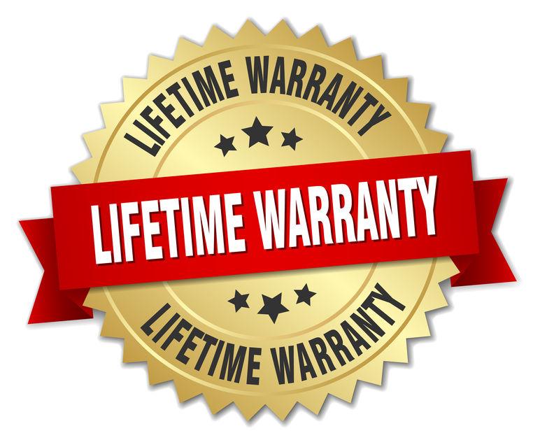 Lifetime warranty medal