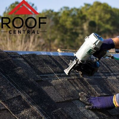 A Roofer Repairs a Roof.
